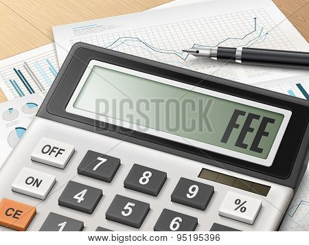 Calculator With The Word Fee