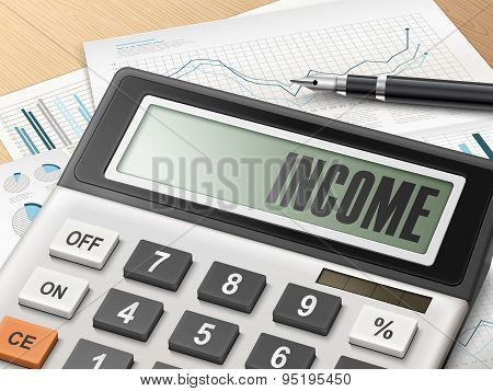 Calculator With The Word Income