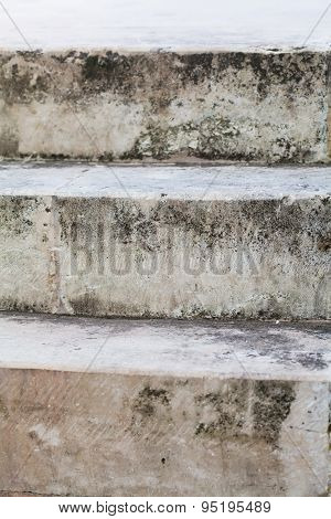 Aged Grey Stone Stairway