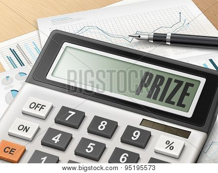 Calculator With The Word Prize