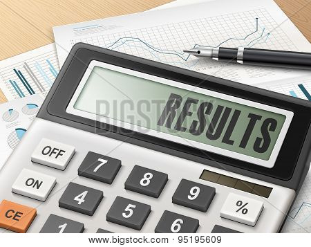 Calculator With The Word Results