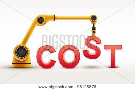 Industrial Robotic Arm Building Cost Word