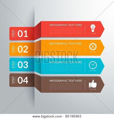 Business infographic paper cut arrow elements