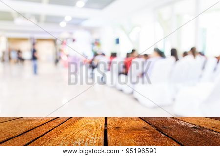 Blurred Image Of People In Auditorium , Blur Background With Bokeh