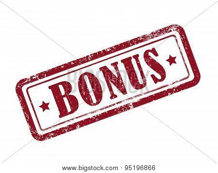 Stamp Bonus In Red