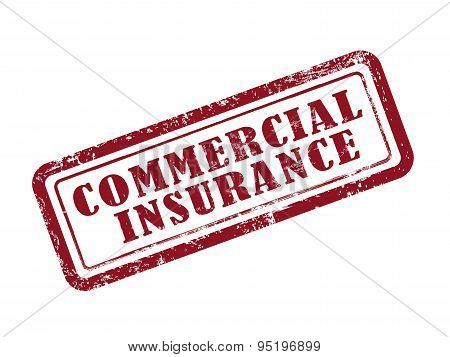 Stamp Commercial Insurance In Red