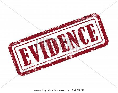 Stamp Evidence In Red