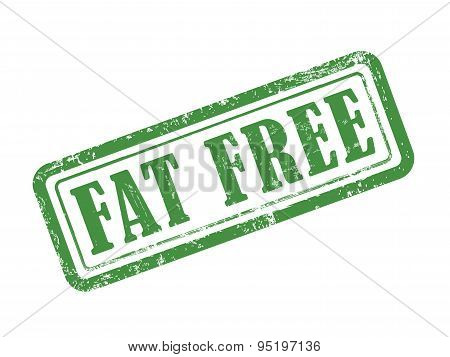 Stamp Fat Free In Green