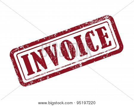 Stamp Invoice In Red