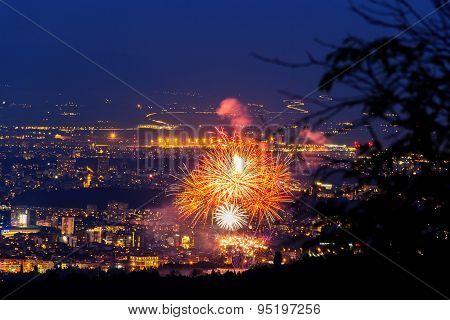Sofia Night Fireworks