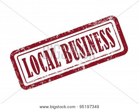 Stamp Local Business In Red