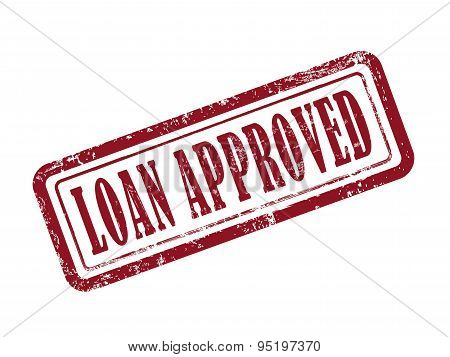 Stamp Loan Approved In Red