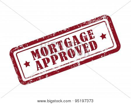 Stamp Mortgage Approved In Red