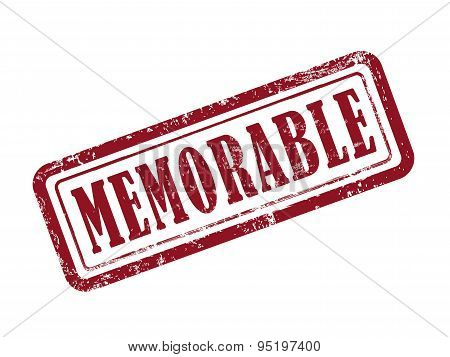 Stamp Memorable In Red