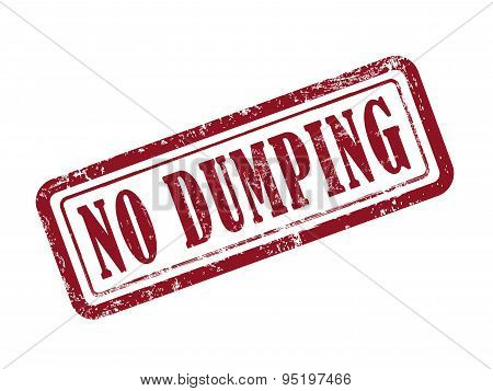 Stamp No Dumping In Red