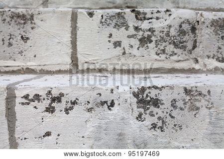 Aged White Stone Stairway