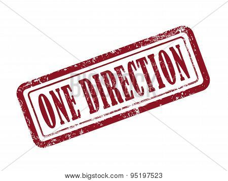 Stamp One Direction In Red