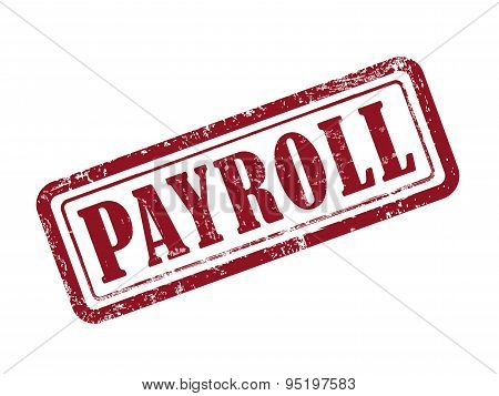 Stamp Payroll In Red