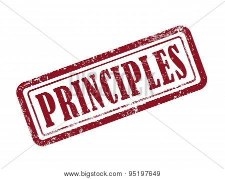 Stamp Principles In Red