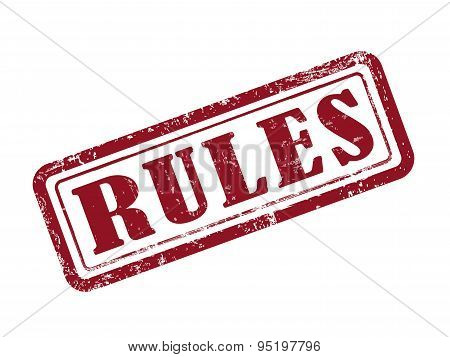 Stamp Rules In Red
