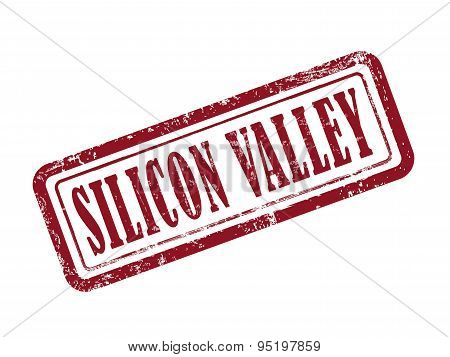 Stamp Silicon Valley In Red
