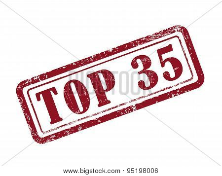 Stamp Top 35 In Red