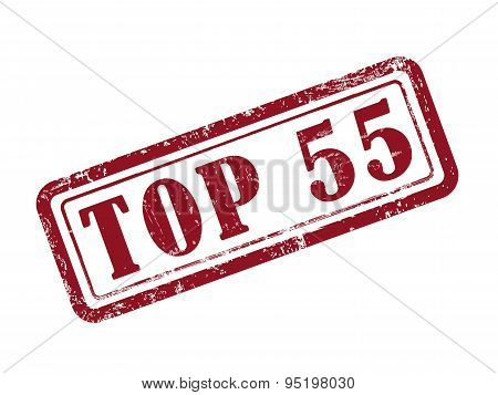 Stamp Top 55 In Red