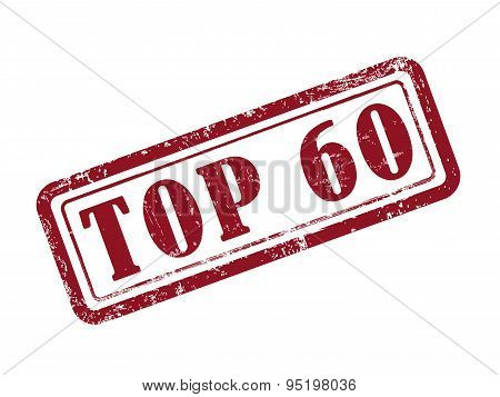 Stamp Top 60 In Red