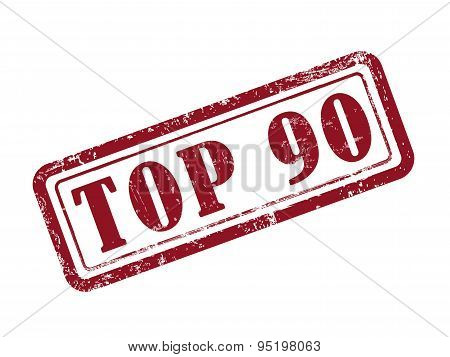 Stamp Top 90 In Red