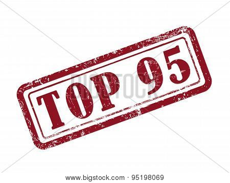 Stamp Top 95 In Red