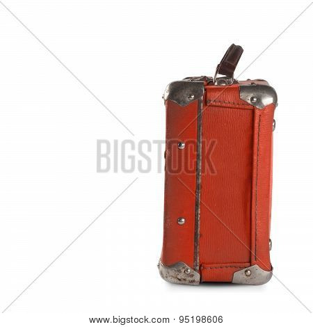 Old Style Red Suitcase