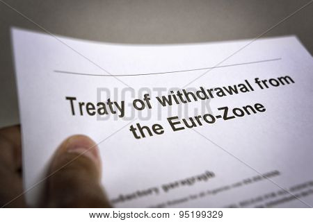 Treaty Withdrawal From Euro-zone