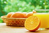 foto of orange  - Glass of orange juice - JPG