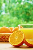 image of orange  - Glass of orange juice - JPG