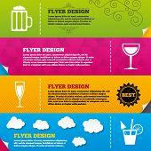 image of sparkling wine  - Flyer brochure designs - JPG