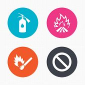 picture of fire extinguishers  - Circle buttons - JPG