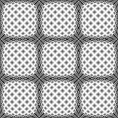 image of quadrangles  - Design seamless monochrome warped diamond pattern - JPG