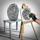 Постер, плакат: Identity Theft Concept