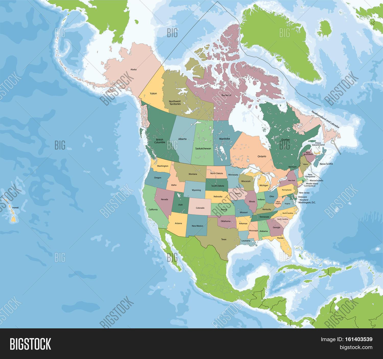 North America Continent Entirely Image Photo Bigstock - Usa northern hemisphere