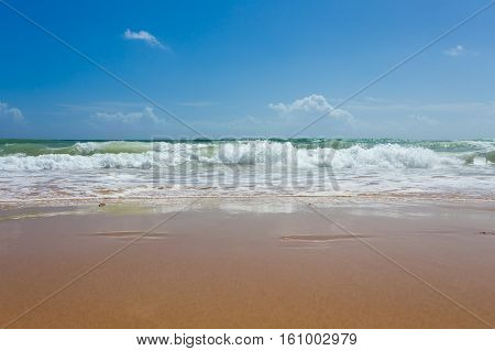 Beautiful Mediterranean Water Lapping On The Shore