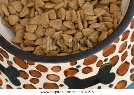 Dog Food In Bowl