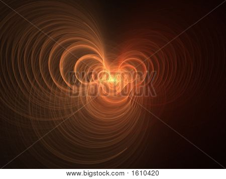 3D Orange Light Abstract
