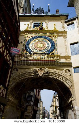 Gros Horloge, Rouen, Normandy, France