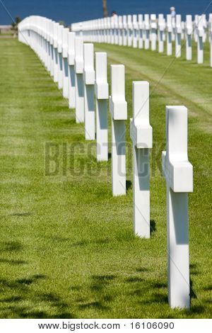 American Military Cemetery, Omaha Beach, Colleville-sur-Mer, Normandy, France