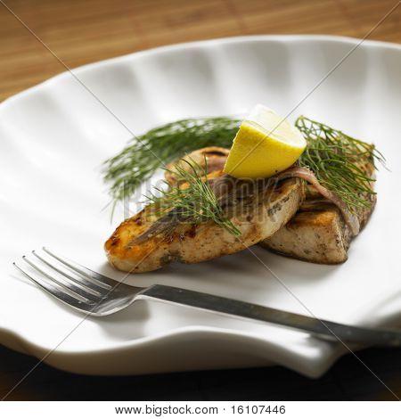 swordfish steak with anchovies