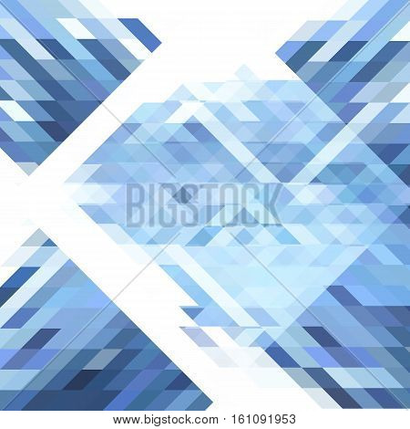 Abstract geometric background. Geometric shapes in different shades of blue and white. Futuristic geometric polygon pattern. For use as webpage background banner poster logo. Vector. Made using clipping mask