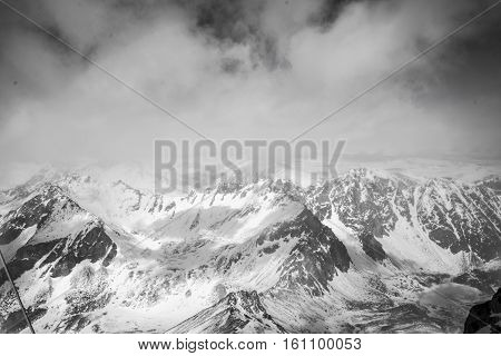 The Majestic Mountain Peaks Of The Eastern Sayan Mountains.
