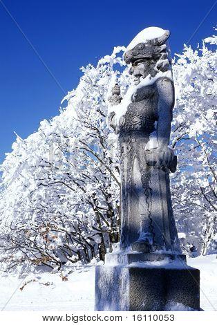 statue of Radegast, Beskydy, Czech Republic
