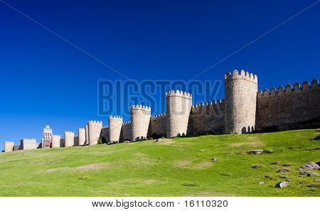 fortification of Avila, Castile and Leon, Spain