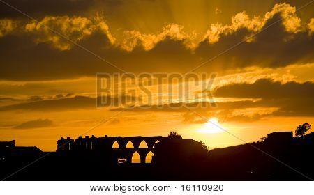 gothic aqueduct, Morella, Comunidad Valenciana, Spain